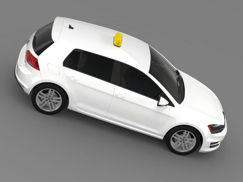 volkswagen golf tsi taxi 3d model 3ds max fbx c4d lwo ma mb hrc xsi obj 204154