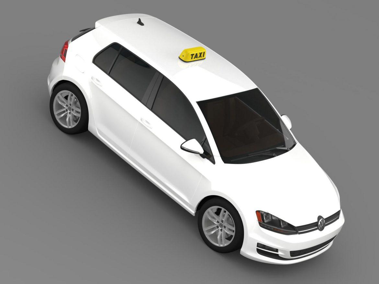volkswagen golf tsi taxi 3d model 3ds max fbx c4d lwo ma mb hrc xsi obj 204155