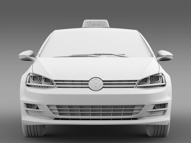 volkswagen golf tsi taxi 3d model 3ds max fbx c4d lwo ma mb hrc xsi obj 204156