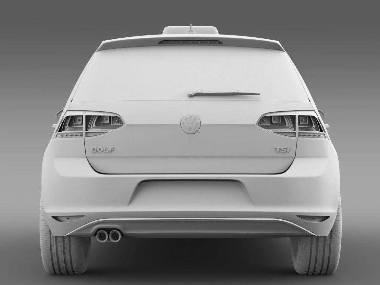 volkswagen golf tsi taxi 3d model 3ds max fbx c4d lwo ma mb hrc xsi obj 204157