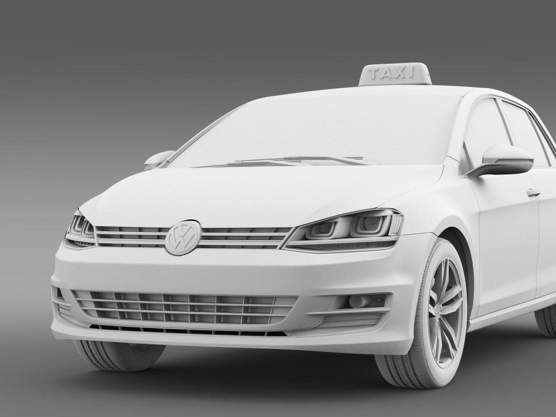 volkswagen golf tsi taxi 3d model 3ds max fbx c4d lwo ma mb hrc xsi obj 204158