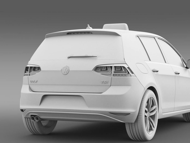 volkswagen golf tsi taxi 3d model 3ds max fbx c4d lwo ma mb hrc xsi obj 204159