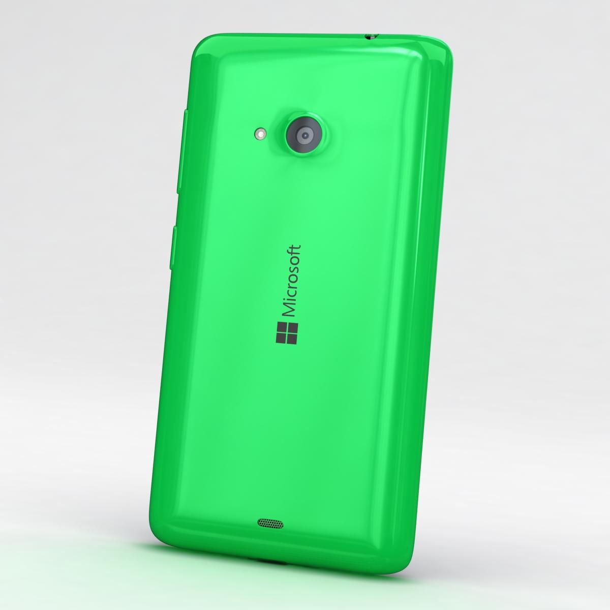 microsoft lumia 535 and dual sim green 3d model 3ds max fbx c4d obj 204168