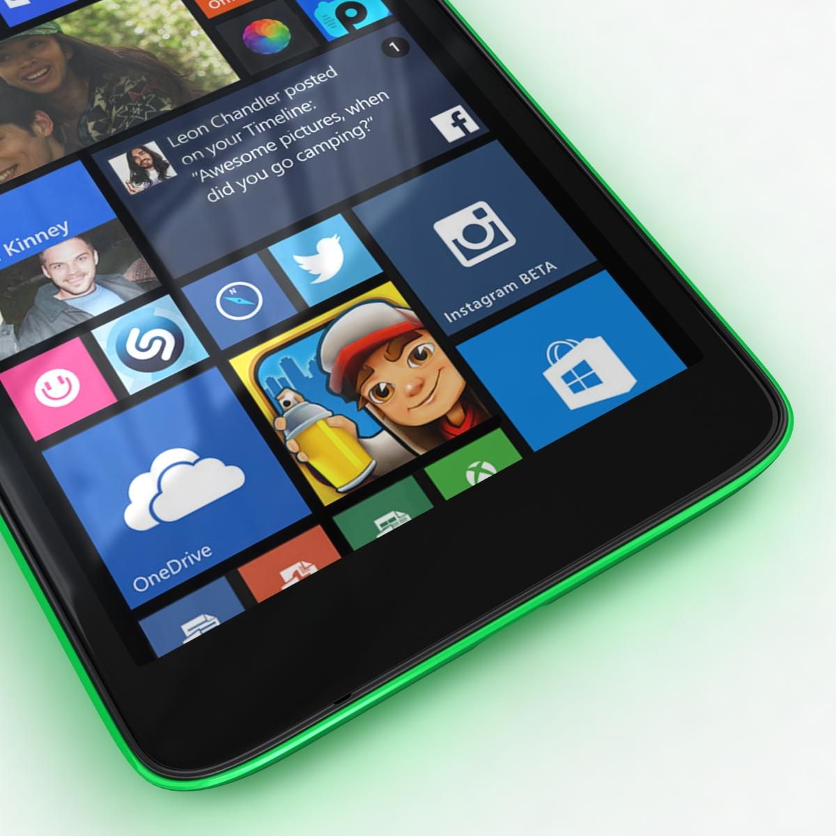 microsoft lumia 535 and dual sim green 3d model 3ds max fbx c4d obj 204171