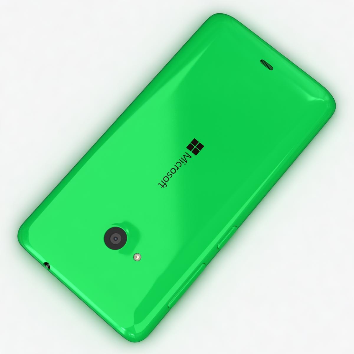 microsoft lumia 535 and dual sim green 3d model 3ds max fbx c4d obj 204173