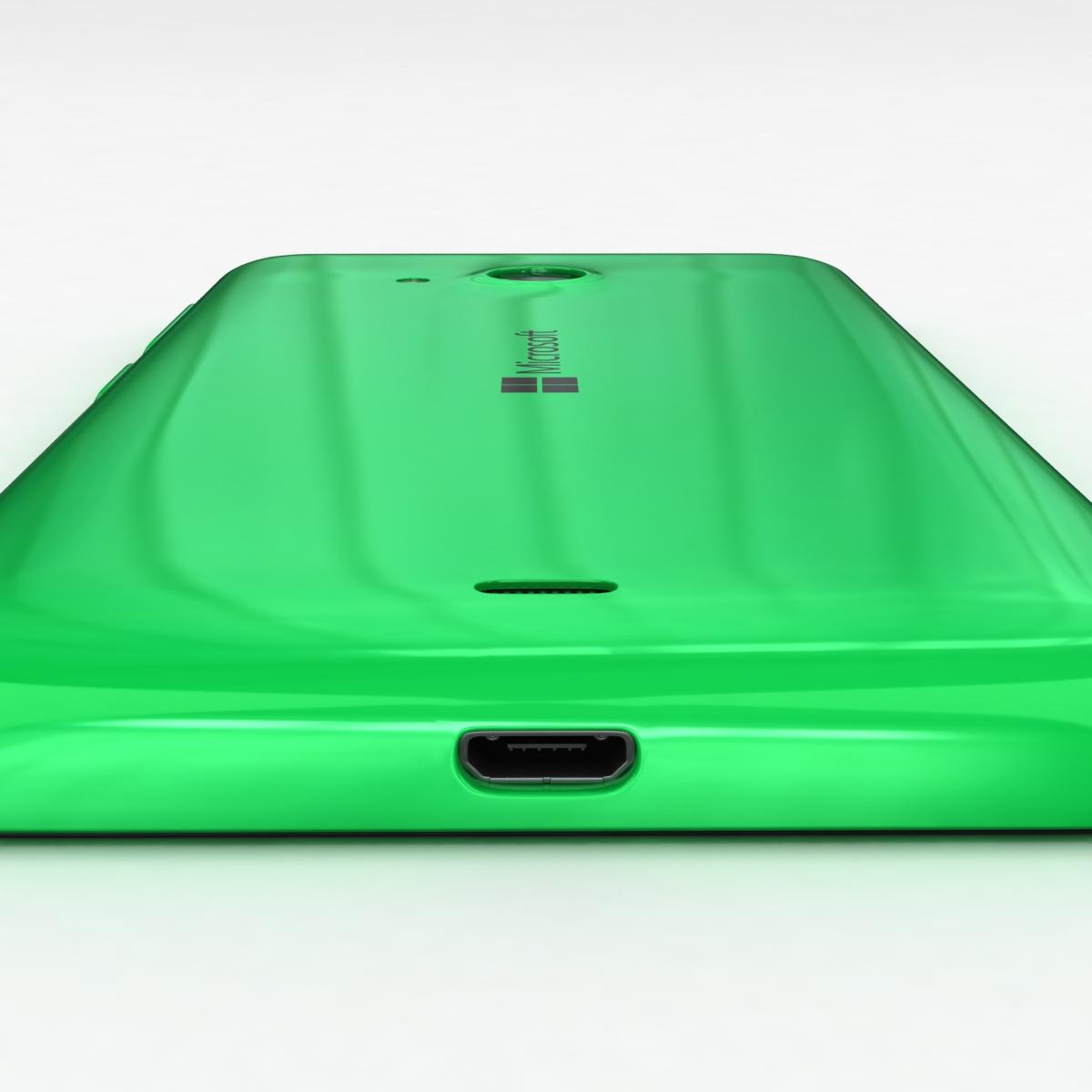 microsoft lumia 535 and dual sim green 3d model 3ds max fbx c4d obj 204177