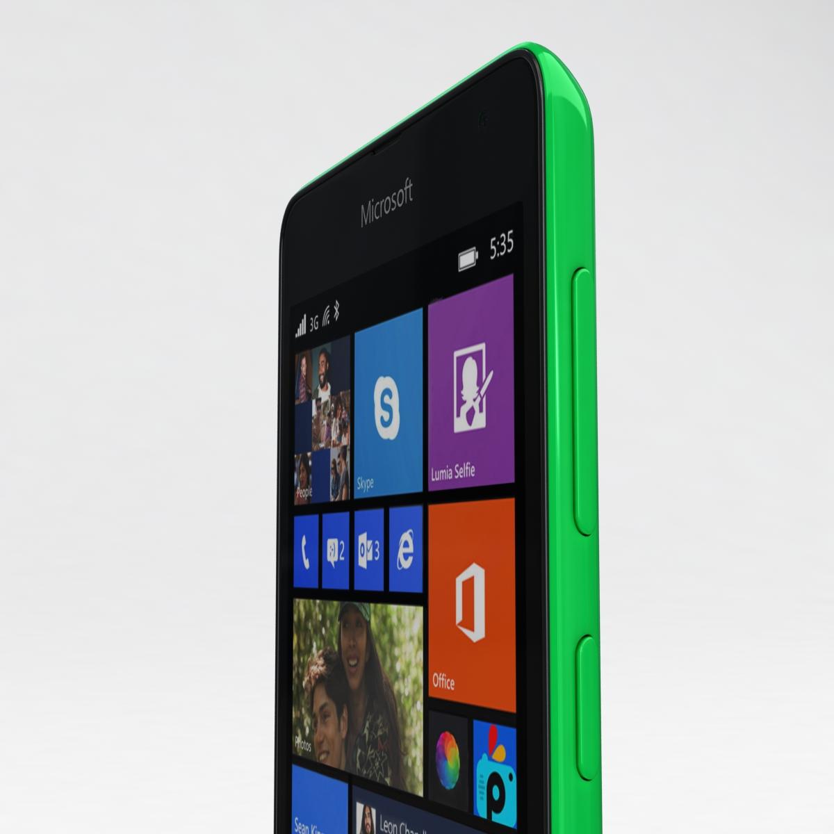 microsoft lumia 535 and dual sim green 3d model 3ds max fbx c4d obj 204179