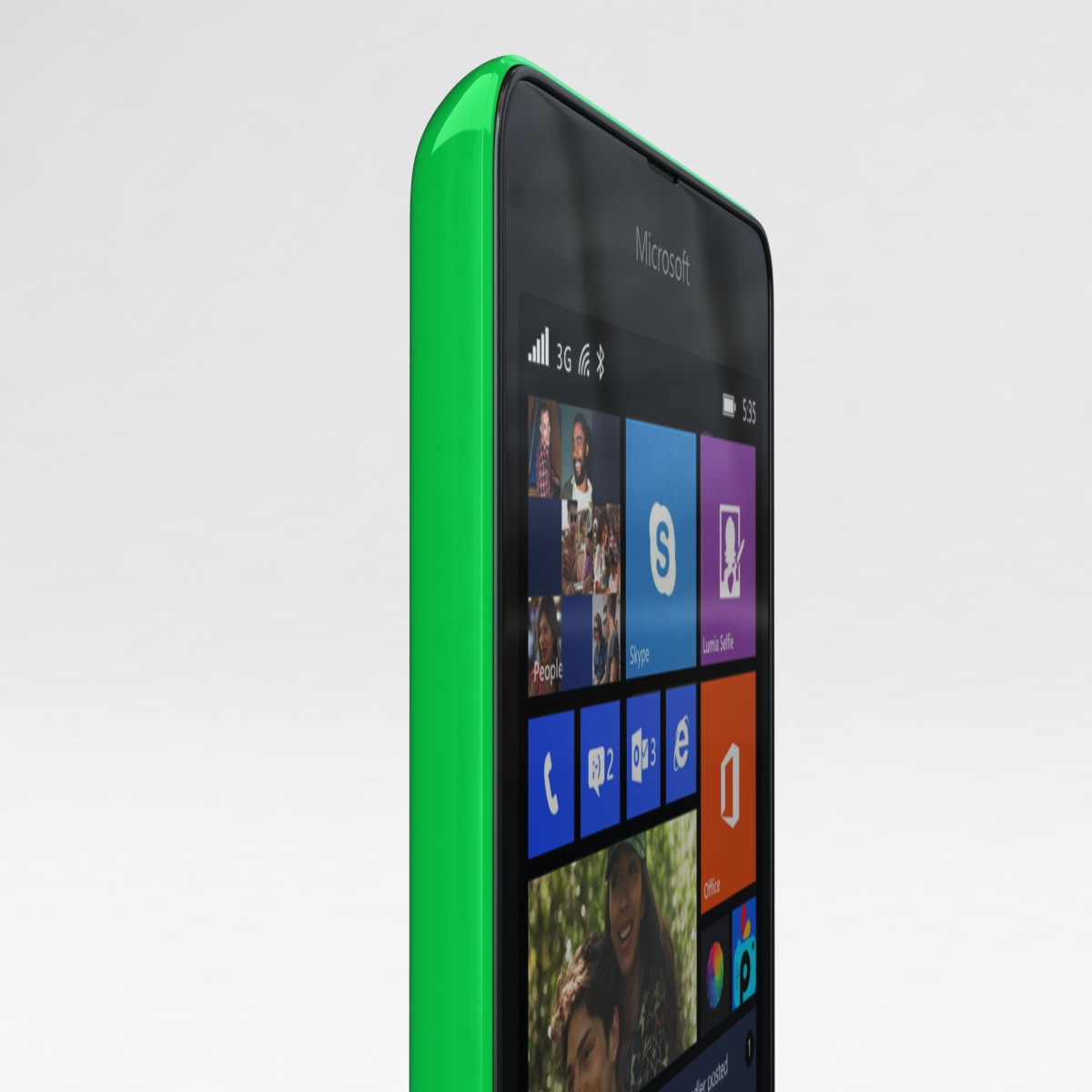 microsoft lumia 535 and dual sim green 3d model 3ds max fbx c4d obj 204180