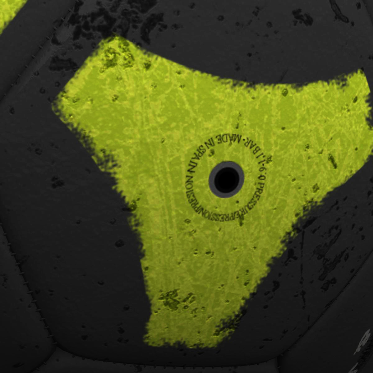soccerball black yellow 3d model 3ds max fbx c4d ma mb obj 204206