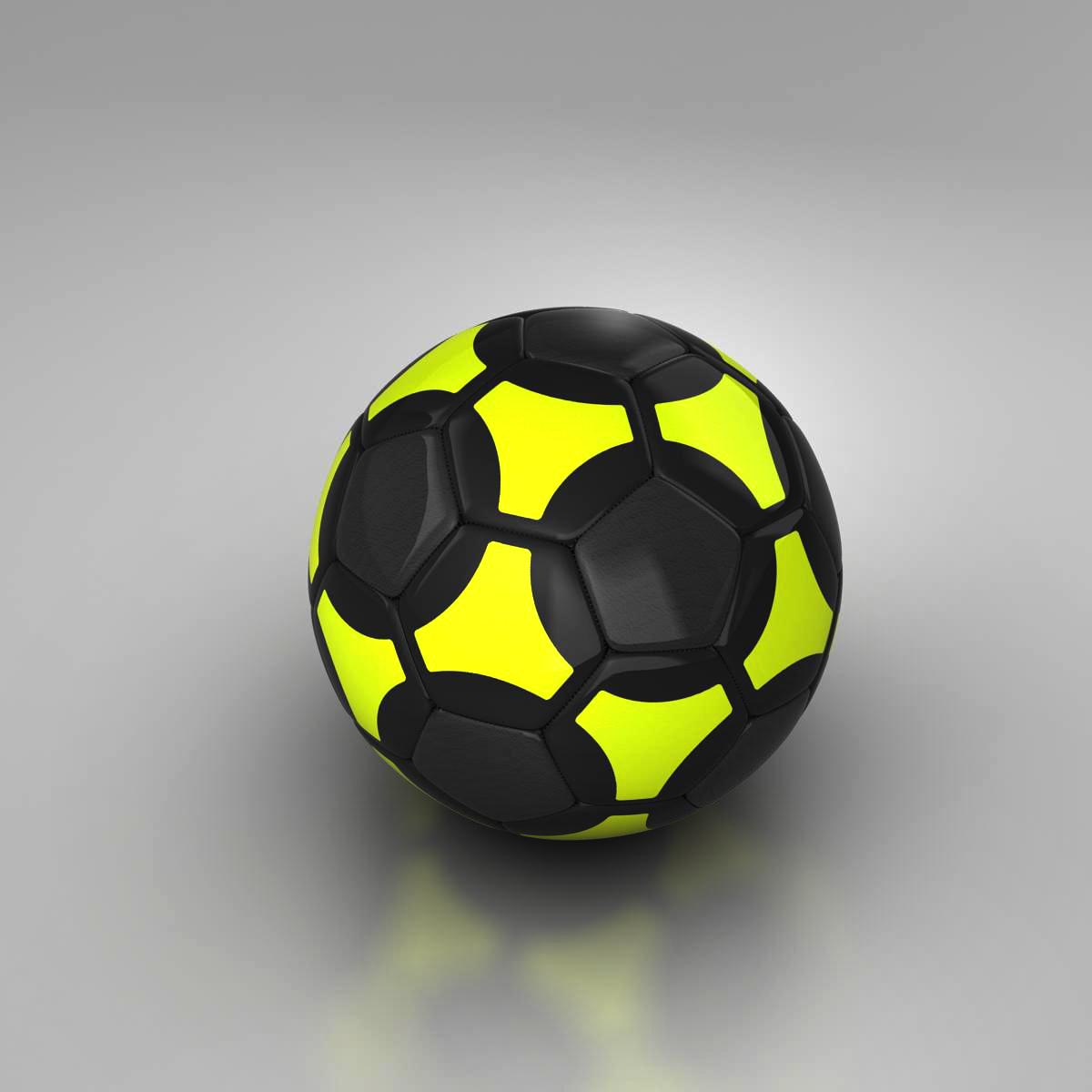 soccerball black yellow 3d model 3ds max fbx c4d ma mb obj 204207