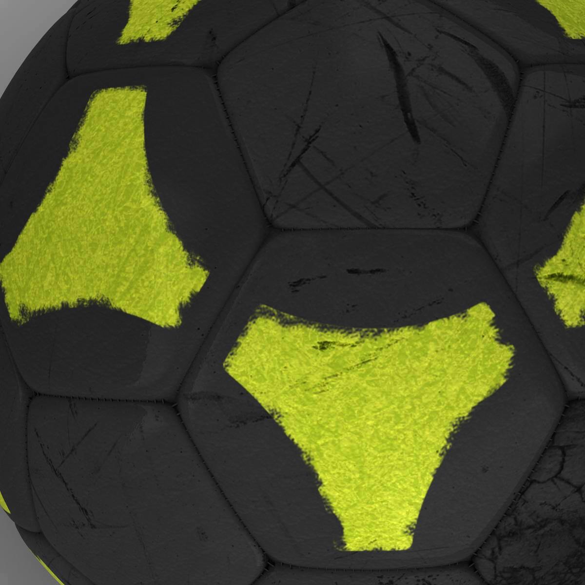 soccerball black yellow 3d model 3ds max fbx c4d ma mb obj 204208