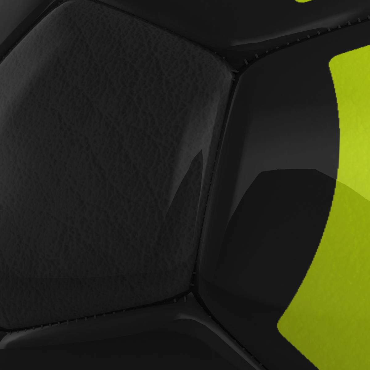 soccerball black yellow 3d model 3ds max fbx c4d ma mb obj 204210