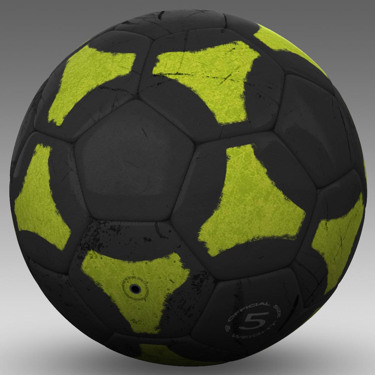 soccerball black yellow 3d model 3ds max fbx c4d ma mb obj 204211