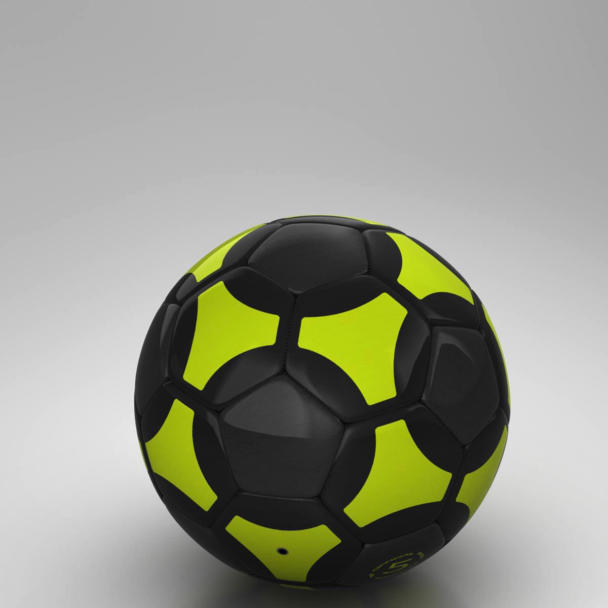 soccerball black yellow 3d model 3ds max fbx c4d ma mb obj 204212