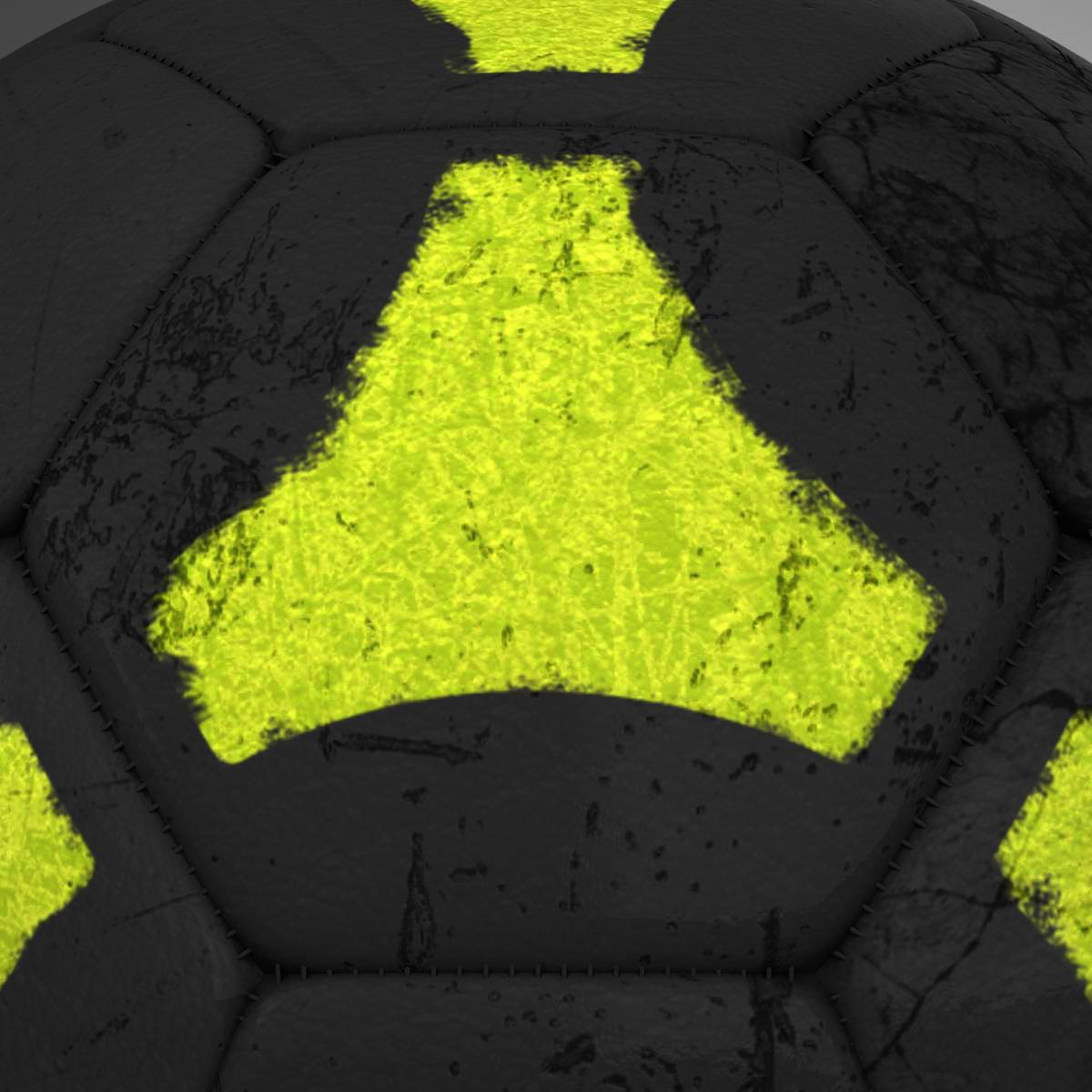 soccerball black yellow 3d model 3ds max fbx c4d ma mb obj 204213