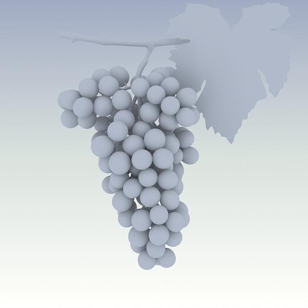 green grapes 3d model 3ds max fbx lwo texture obj 204244
