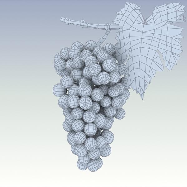 green grapes 3d model 3ds max fbx lwo texture obj 204246