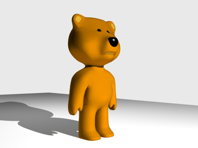 teddy bear 3d model 3ds max fbx 204248