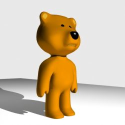 Teddy Bear 3D 3d model 3ds max fbx