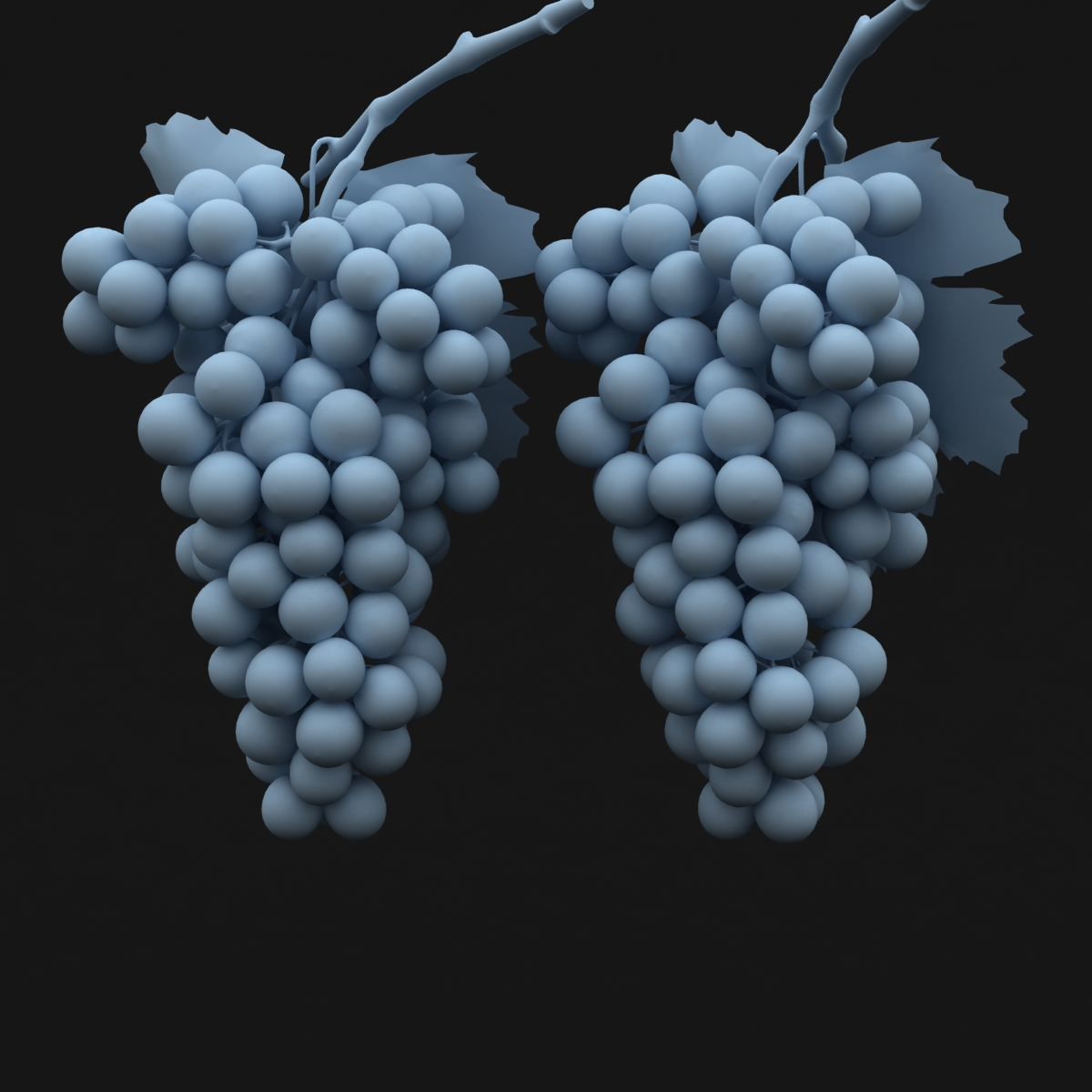 grapes black and blue 3d model 3ds max fbx c4d obj 204273