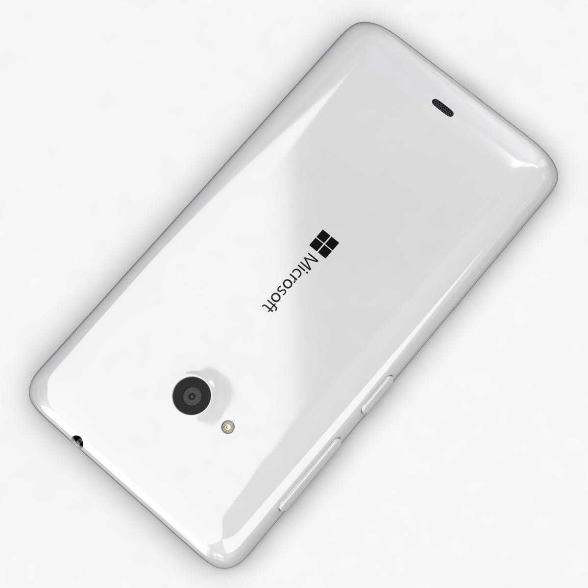 microsoft lumia 535 and dual sim white 3d model 3ds max fbx c4d obj 204286