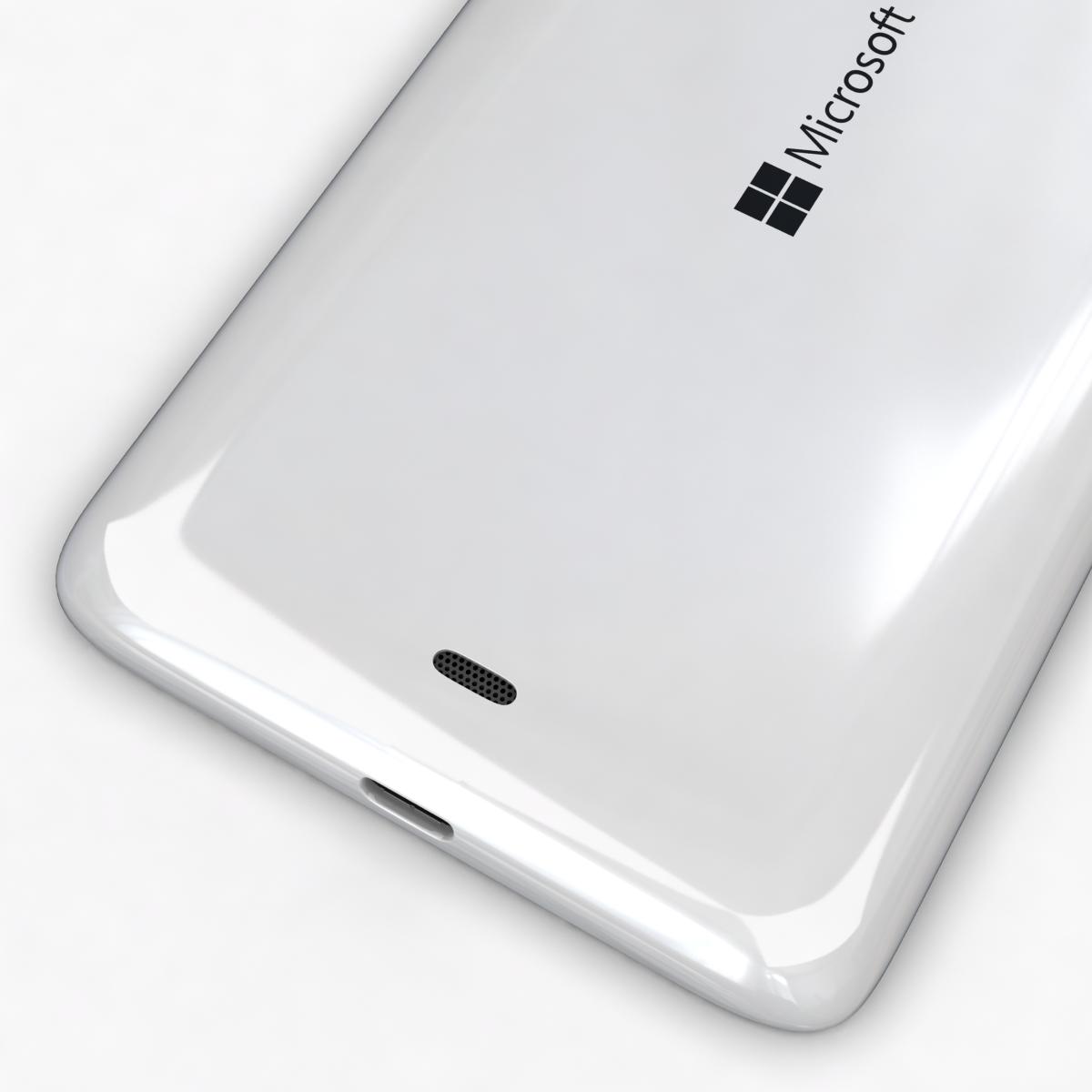 microsoft lumia 535 and dual sim white 3d model 3ds max fbx c4d obj 204288