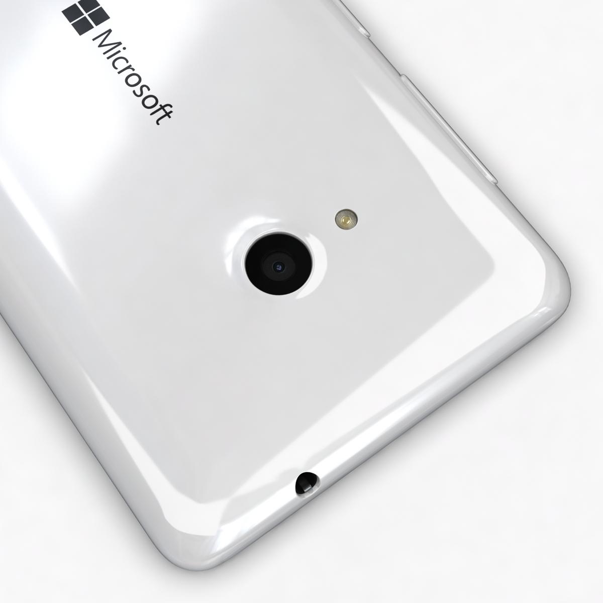 microsoft lumia 535 and dual sim white 3d model 3ds max fbx c4d obj 204289