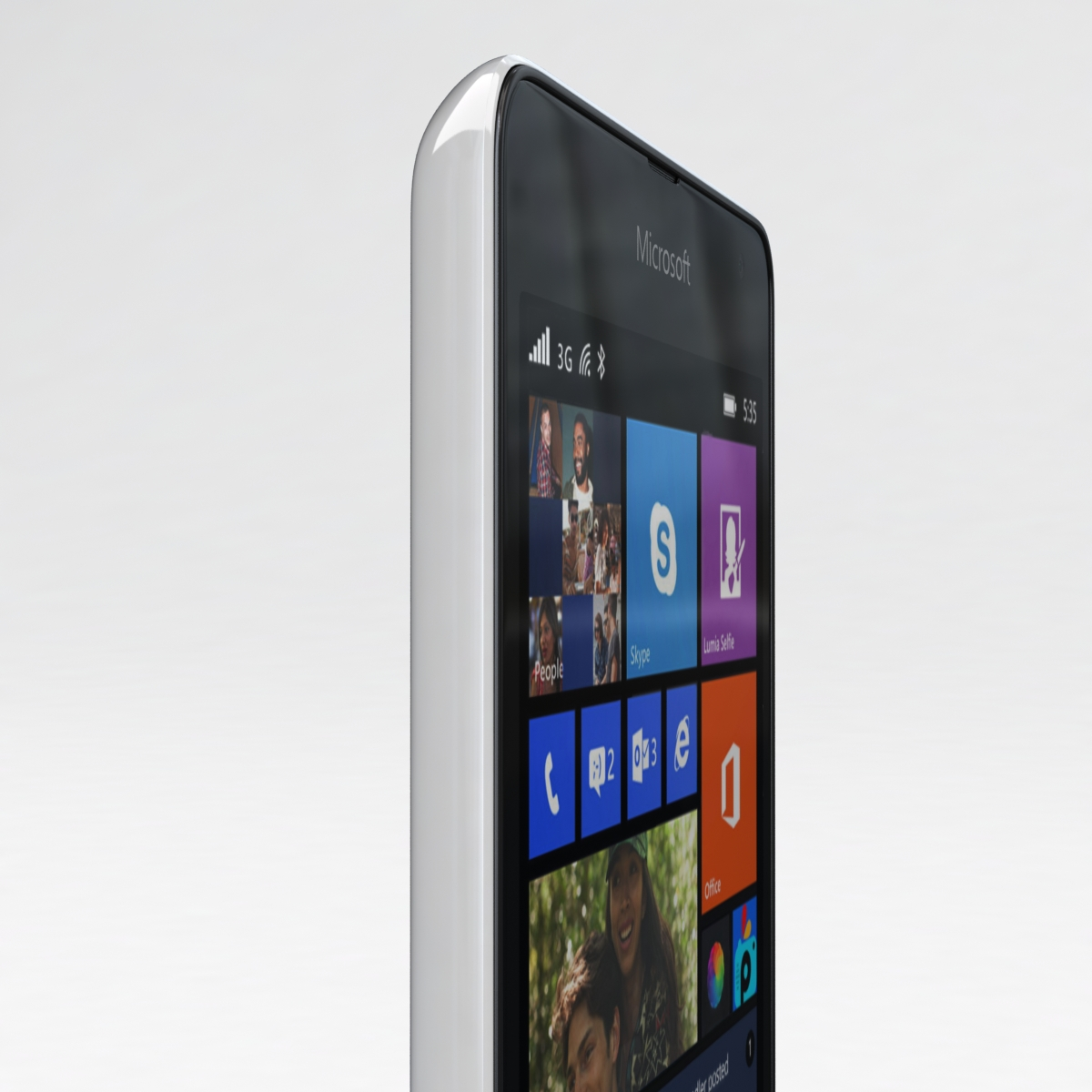 microsoft lumia 535 and dual sim white 3d model 3ds max fbx c4d obj 204290