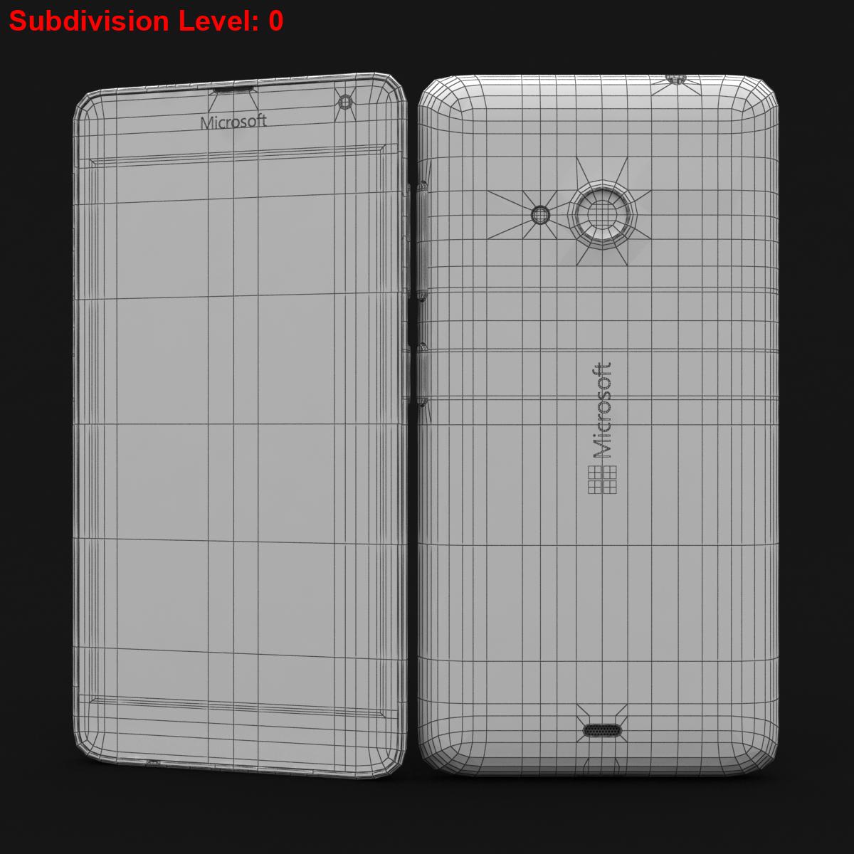 microsoft lumia 535 and dual sim white 3d model 3ds max fbx c4d obj 204296