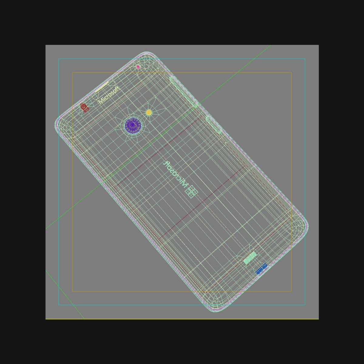 microsoft lumia 535 and dual sim white 3d model 3ds max fbx c4d obj 204303