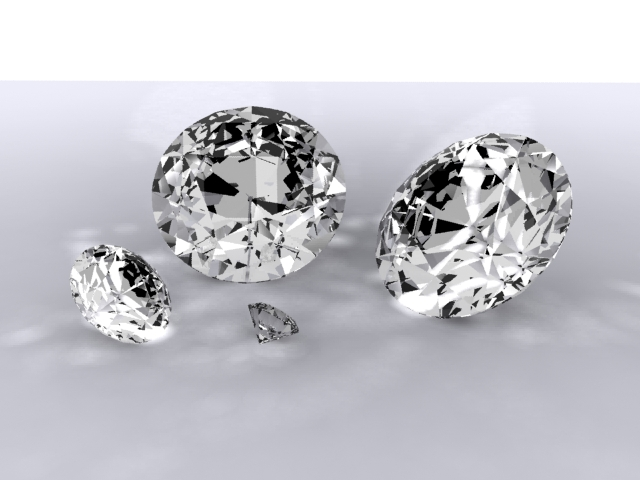diamonds 3d model max 204306