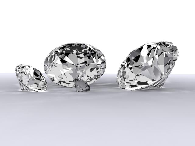 diamonds 3d model max 204307