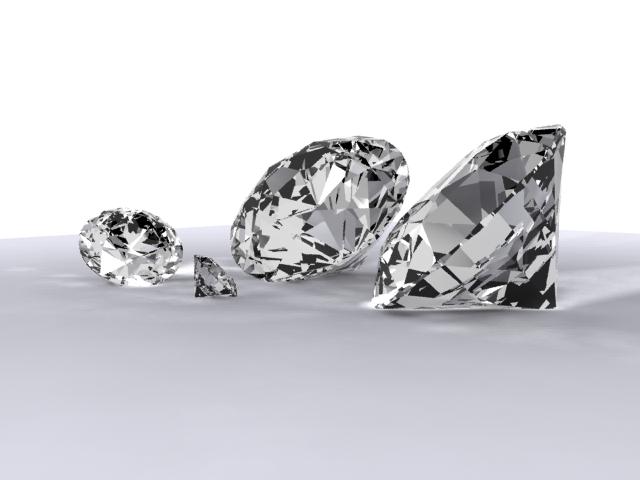 diamonds 3d model max 204308