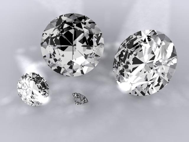 diamonds 3d model max 204309