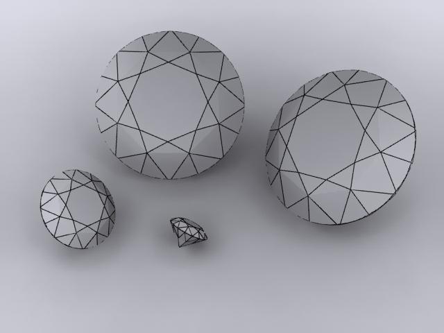 diamonds 3d model max 204310