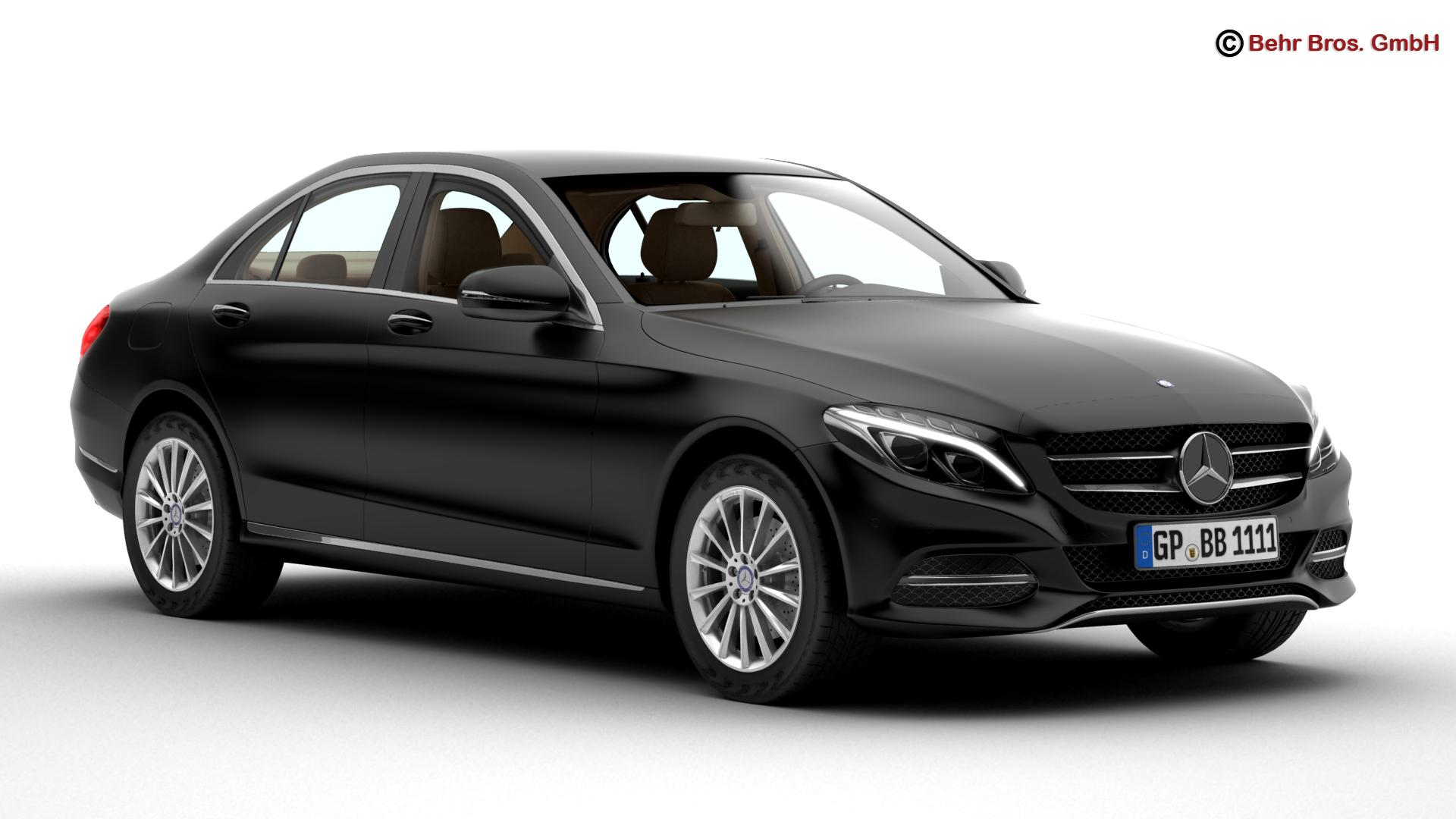 mercedes c class 2015 two versions 3d model 3ds max fbx c4d lwo ma mb obj 204318