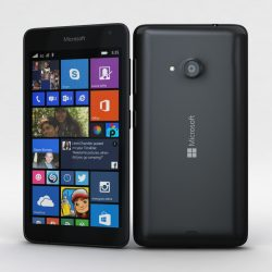 Microsoft Lumia 535 and Dual SIM Black 3d model 3ds max fbx c4d obj