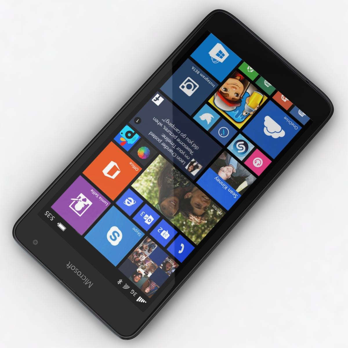 microsoft lumia 535 and dual sim black 3d model 3ds max fbx c4d obj 204353