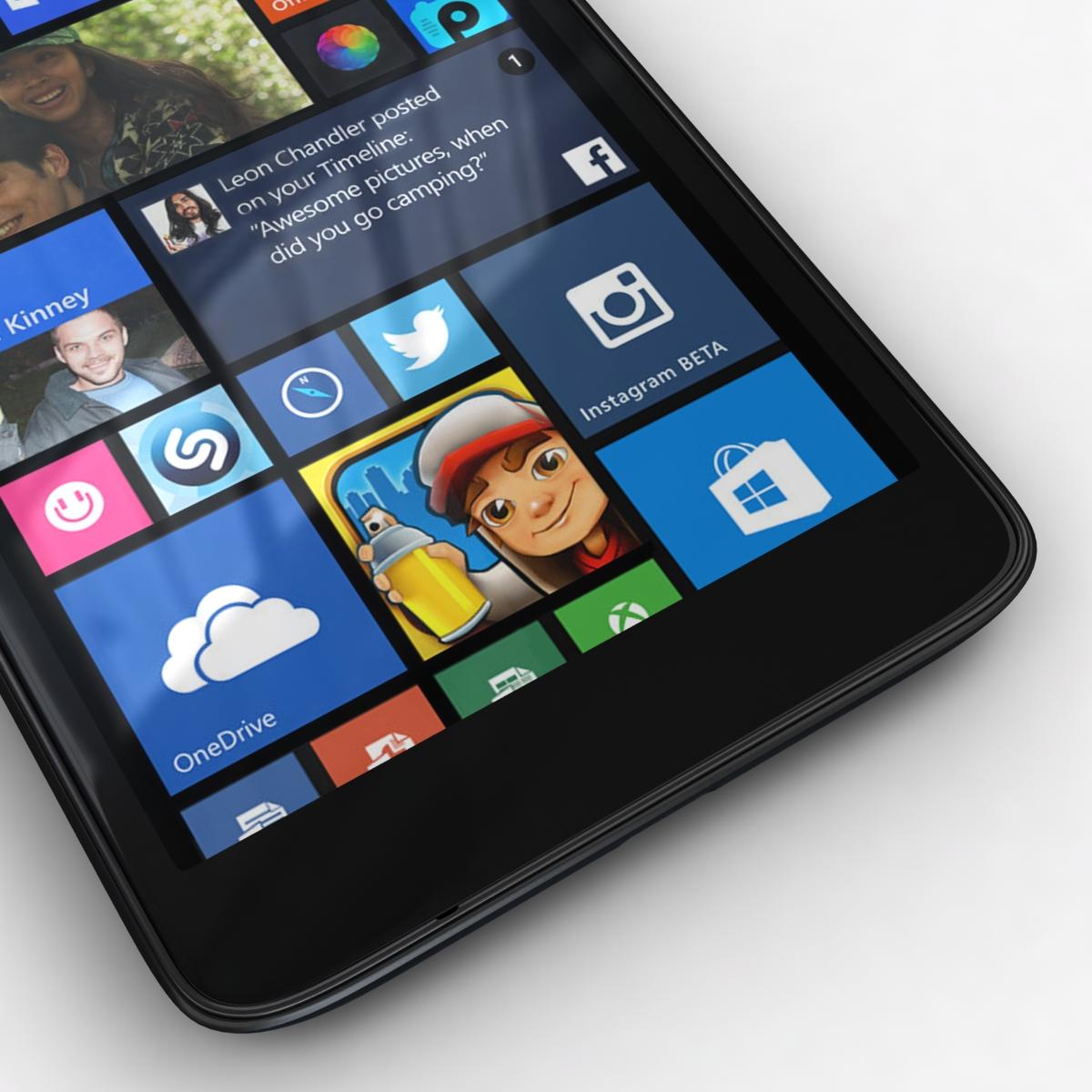 microsoft lumia 535 and dual sim black 3d model 3ds max fbx c4d obj 204354