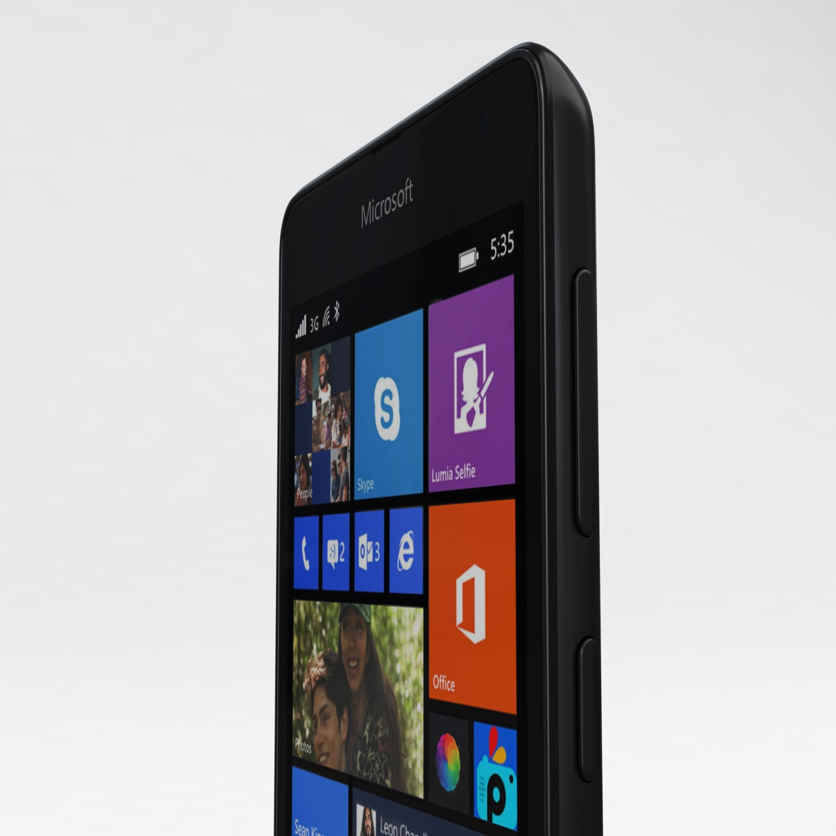 microsoft lumia 535 and dual sim black 3d model 3ds max fbx c4d obj 204360