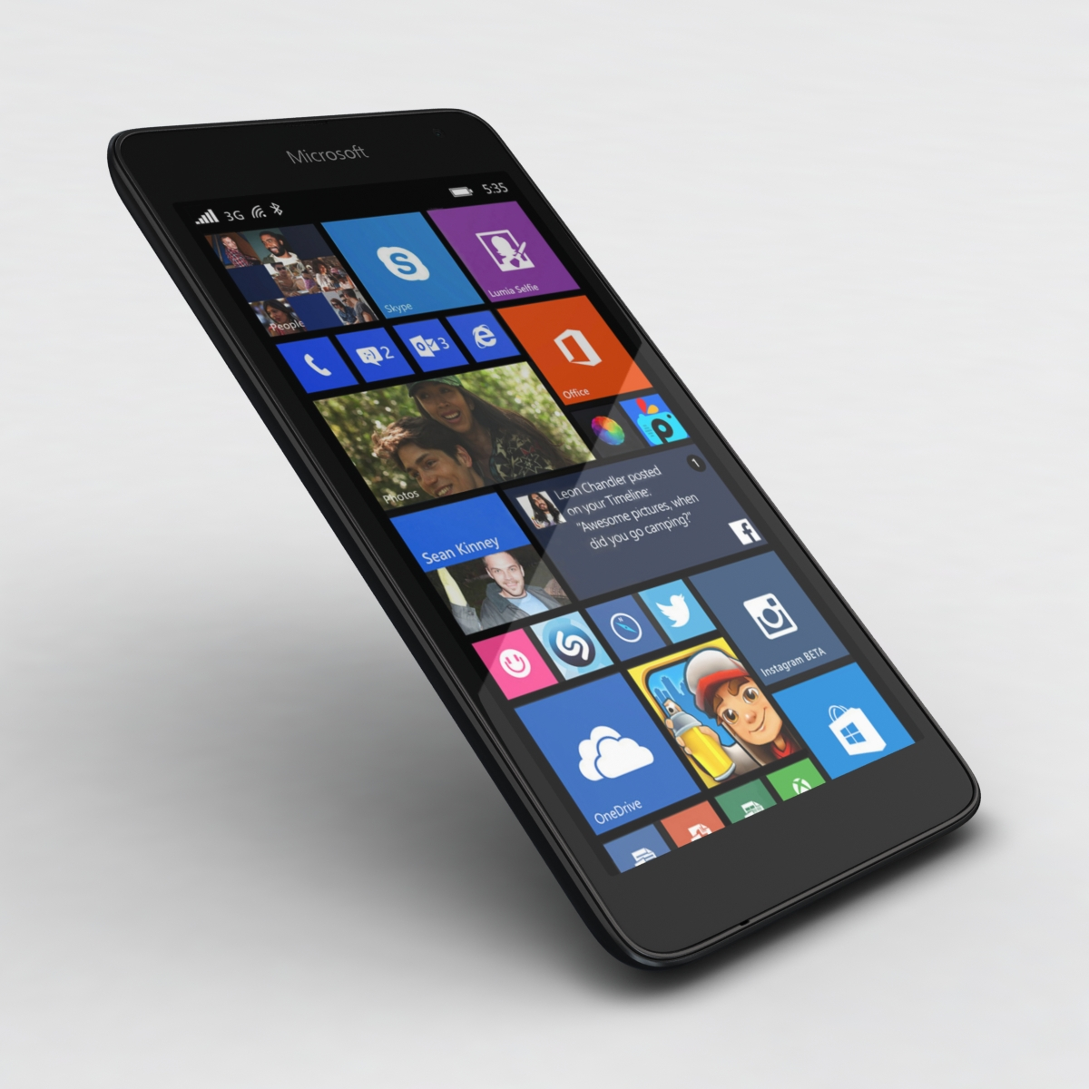 microsoft lumia 535 and dual sim black 3d model 3ds max fbx c4d obj 204361