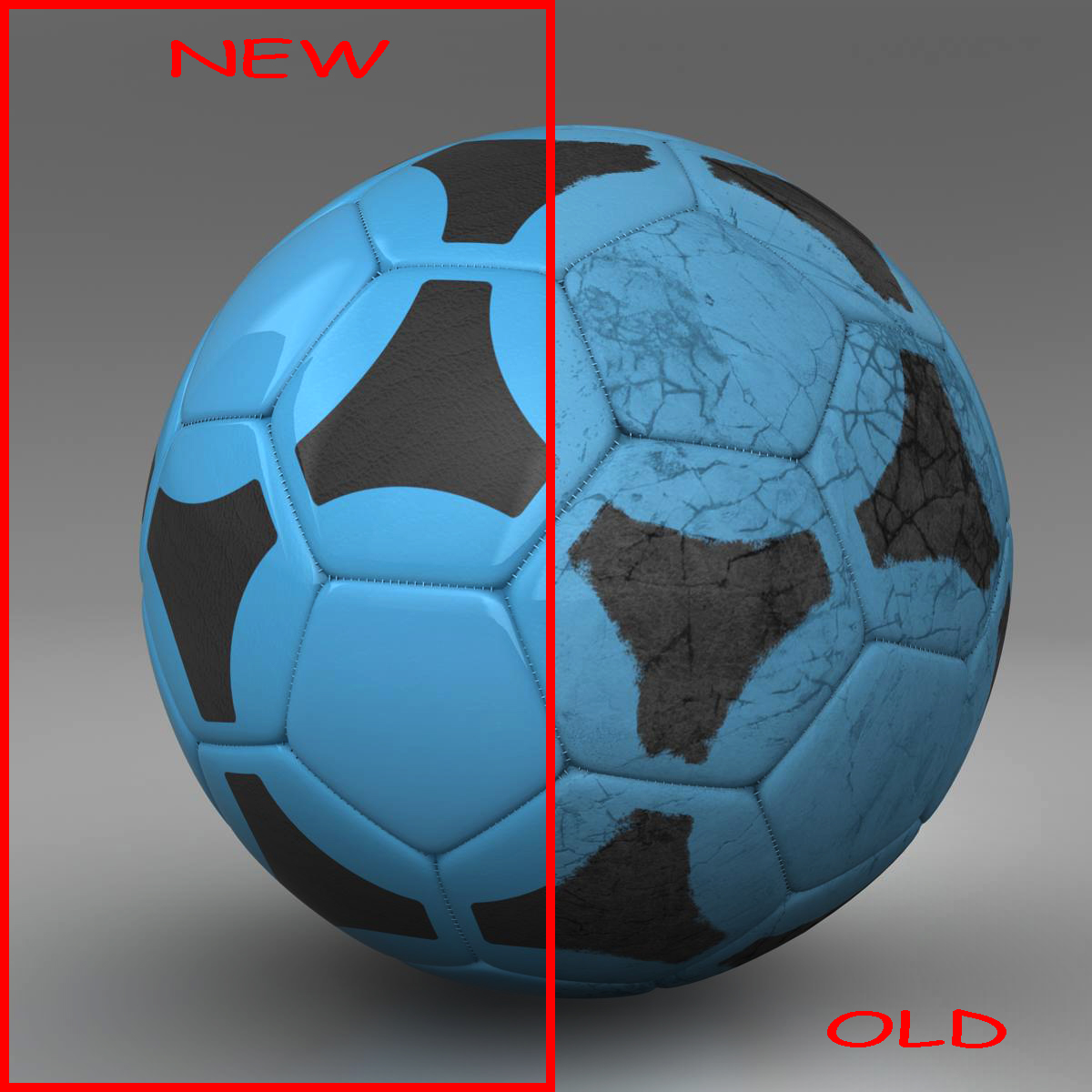 soccerball blue black 3d model 3ds max fbx c4d ma mb obj 204375