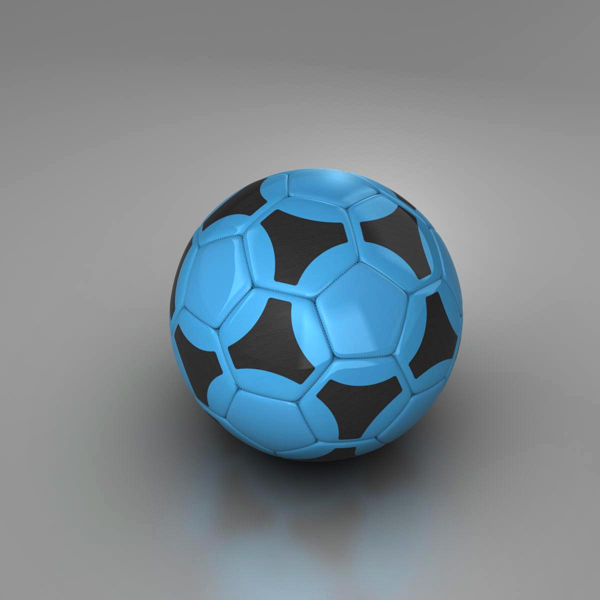 soccerball цэнхэр хар 3d загвар 3ds max fbx c4d ma mb obj 204377