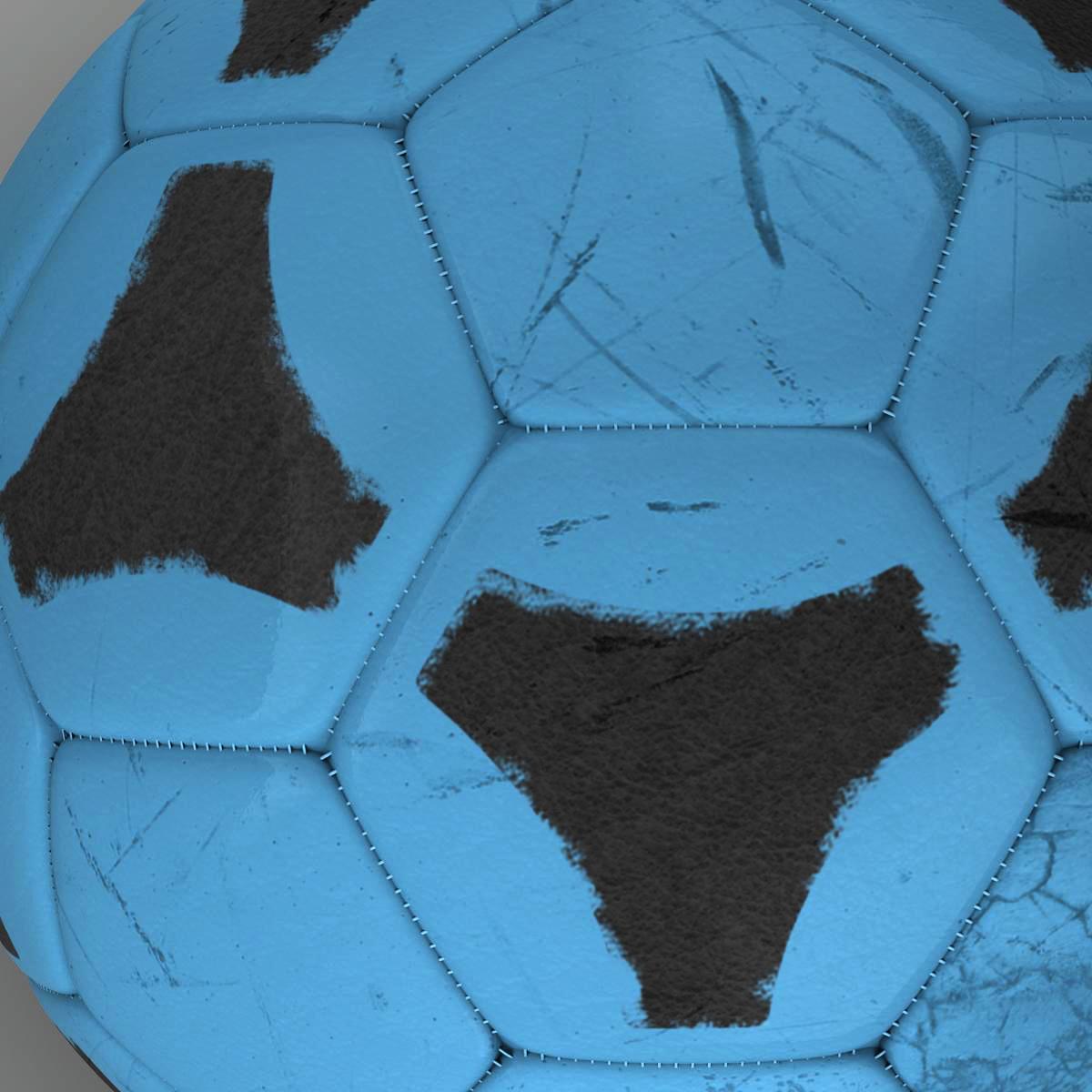 soccerball цэнхэр хар 3d загвар 3ds max fbx c4d ma mb obj 204378