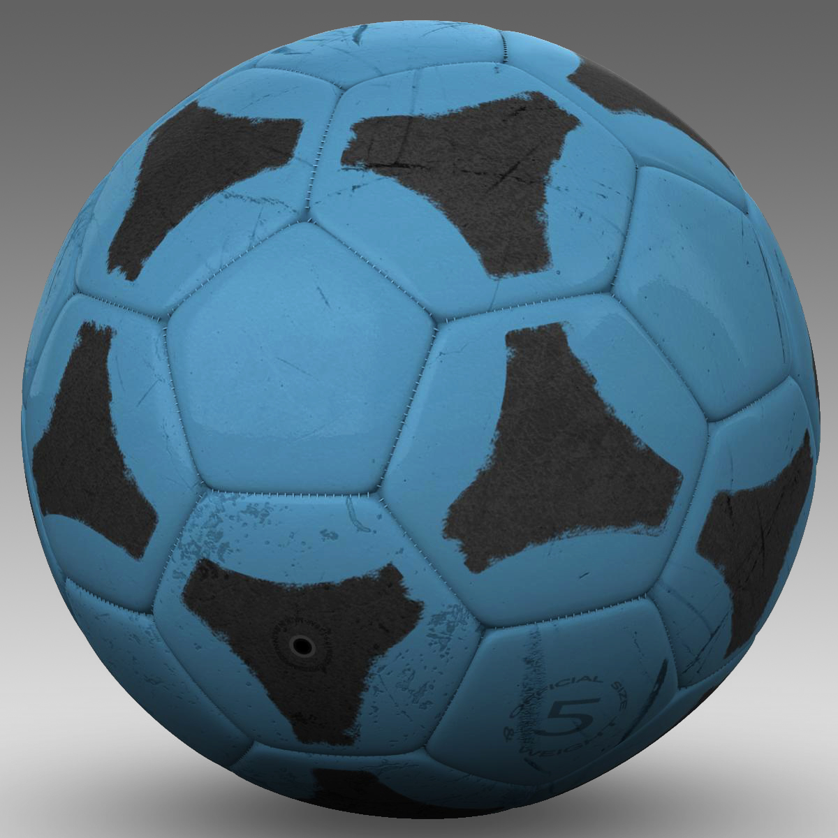 soccerball цэнхэр хар 3d загвар 3ds max fbx c4d ma mb obj 204381