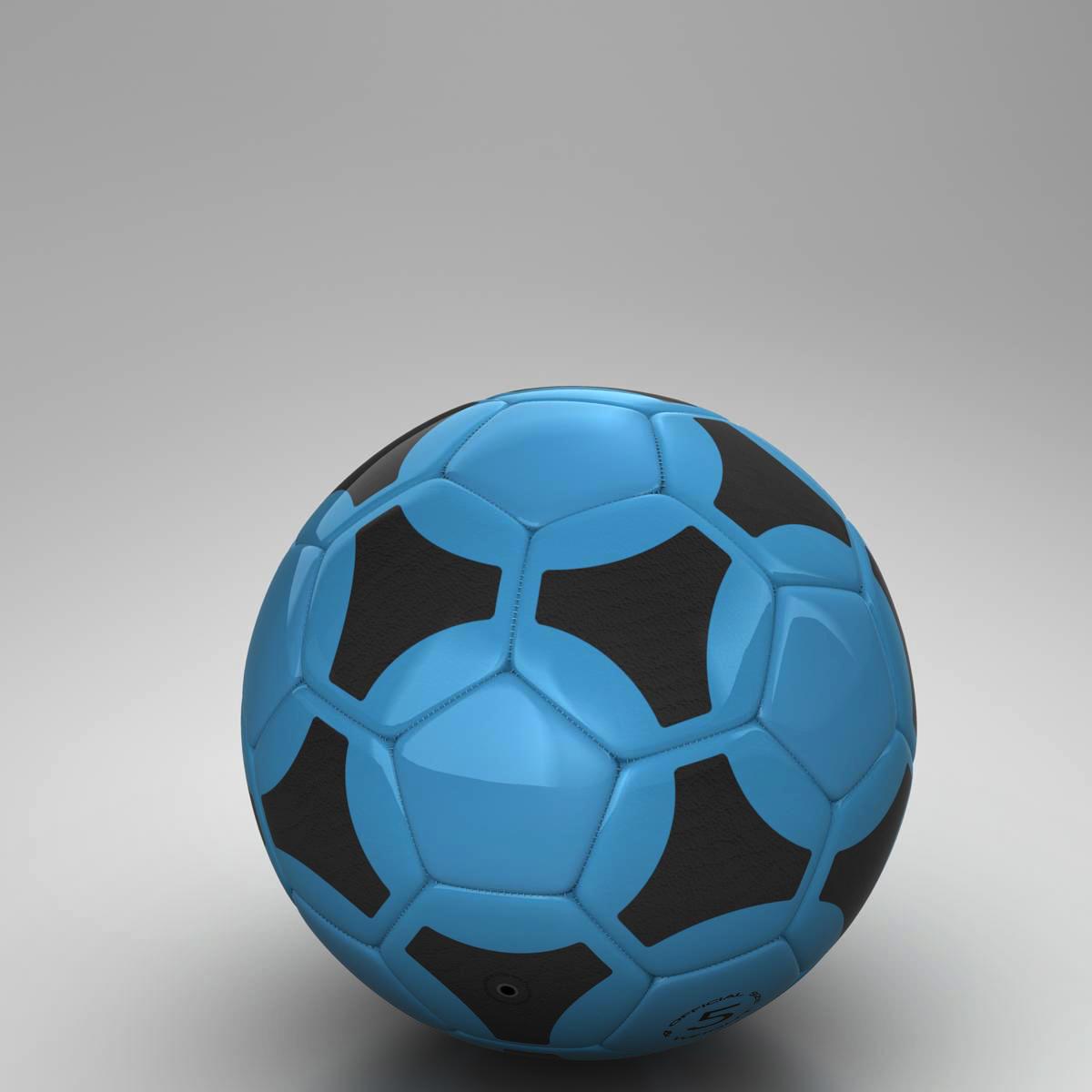 soccerball цэнхэр хар 3d загвар 3ds max fbx c4d ma mb obj 204382