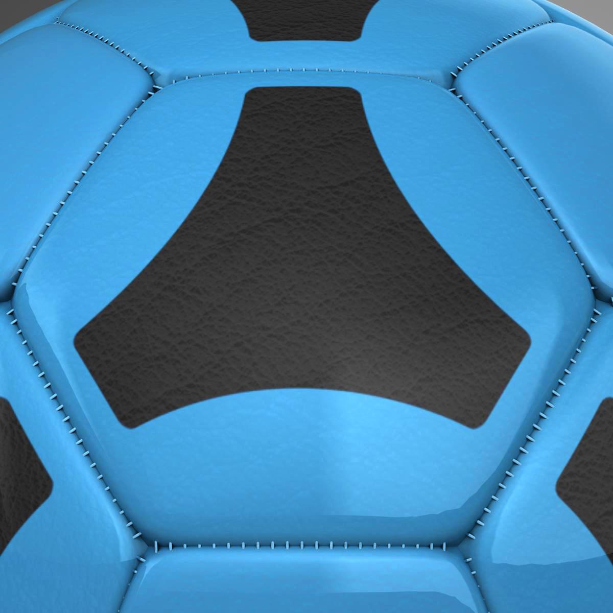 soccerball цэнхэр хар 3d загвар 3ds max fbx c4d ma mb obj 204383