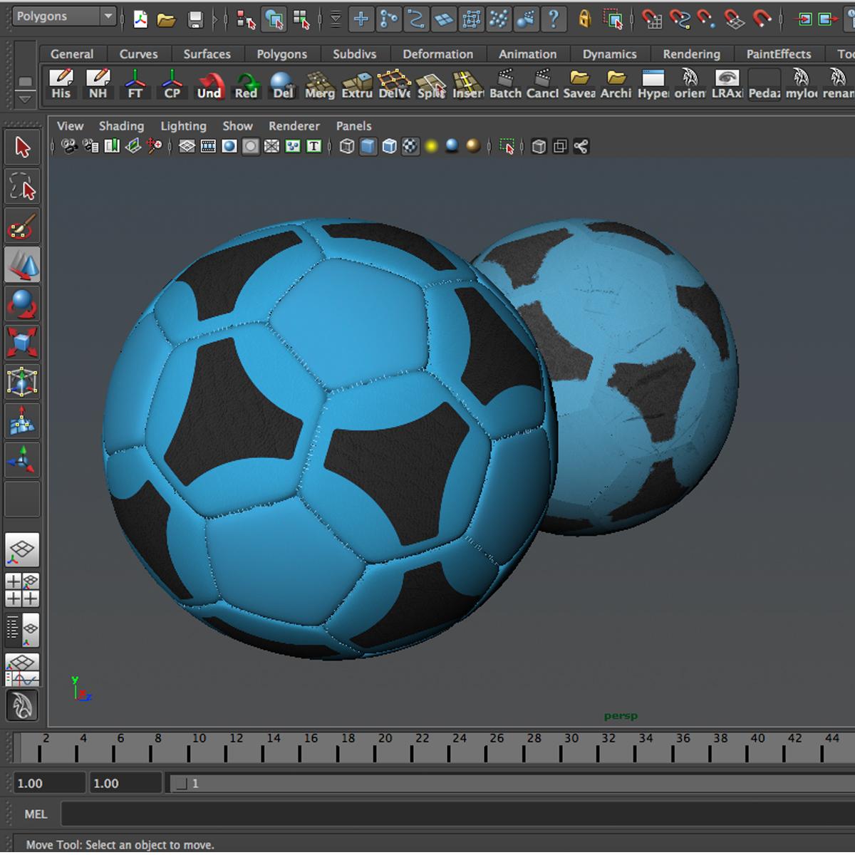 soccerball цэнхэр хар 3d загвар 3ds max fbx c4d ma mb obj 204384