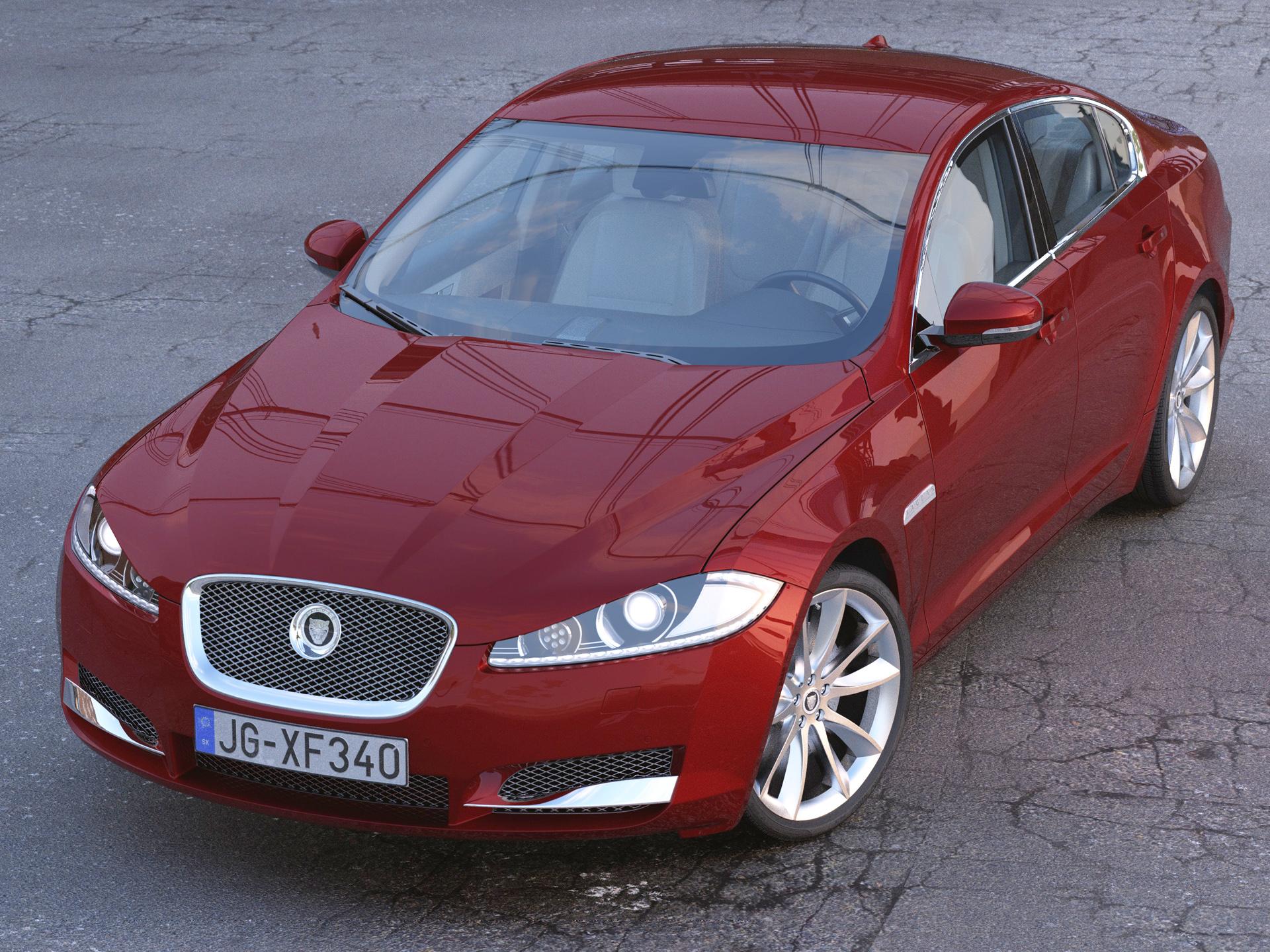 jaguar xf 2013 3d model 3ds max fbx c4d obj 204388