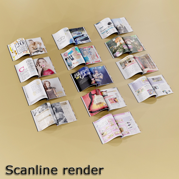 magazine 01 3d model 3ds max fbx texture obj 204424